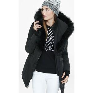Extreme Fur Hood Long Puffer Coat
